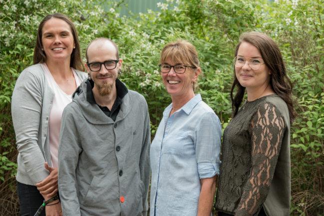 Kundtjänst, Tereze, Andreas, Inger och Åsa