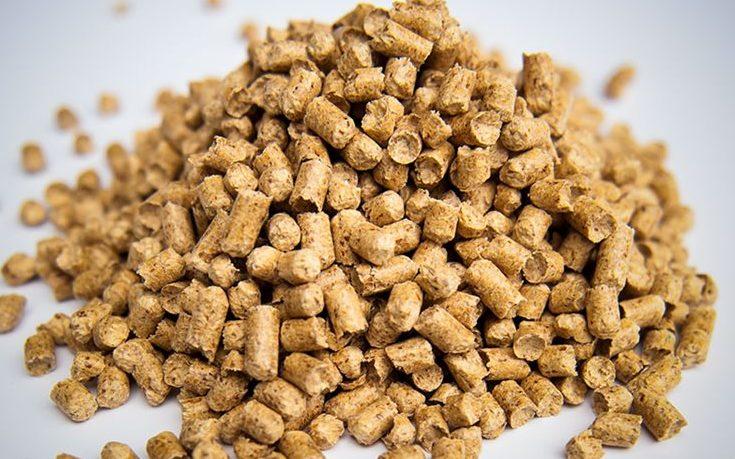 Hög med pellets