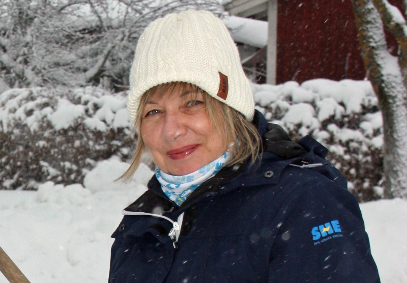 Porträtt Ulla som bland annat är ansvarig för inköp